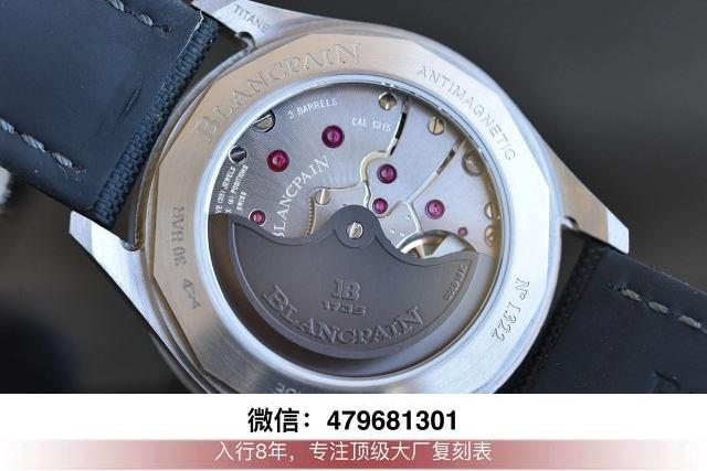 gf厂新款宝珀五十寻-gf五十寻灰陶瓷日历问题拆解换什么机芯?  第9张