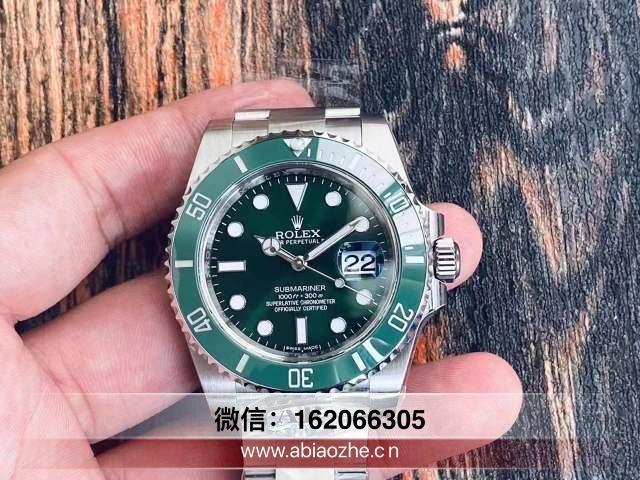 ar厂v3绿水鬼版本对比正品_ar厂绿水鬼表冠有小手标记吗