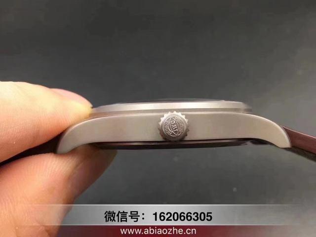 mks万国马克18指针做工问题_mks马克18钛壳刻字颜色对比原装