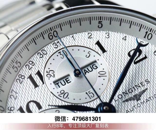jf厂浪琴月相评测-jf浪琴月相计时鉴别缺点日期怎么调整?  第8张