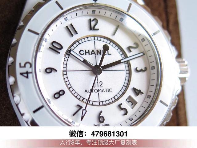 kor厂香奈儿j12机芯-kor的香奈儿j12 h5705复刻机械什么价格?  第4张