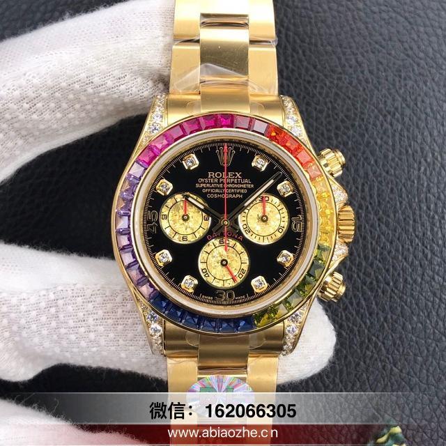 手表鉴赏:BL厂劳力士彩虹迪通拿116595RBOW评测会不会一眼假?