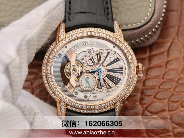 手表品鉴:V9厂爱彼千禧15350ST玫瑰金镶钻腕表做工质量如何?